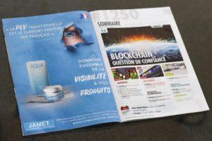 Publicité pour Jamet communication dans le Point De Vente spécial PLV